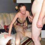 Our zoig friend djdave68 eating her pussy so i went over to get a hand job of Joanne