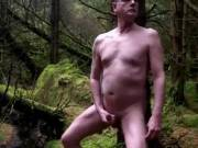wanking in the woods