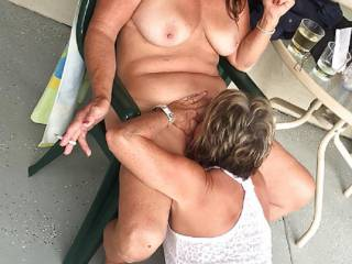 I love having my pussy eaten by another woman.  That leaves the cocks for my mouth or Ass!