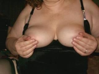 rub your cock on my nipples.