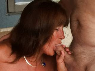 """They call me """"MamaBear"""", and I absolutely love sucking cock!  I enjoy enticing a group of young guys in a bar to take me home, so that I can give them ALL a blowjob!  Then turn me over and take turns fucking me in the Ass!  I'm the life of the party!"""