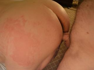 The night after fucking my regular local big tit mature I had this submissive wife in my hotel.  I hadn't used her in a few months so she needed the paddle & cock