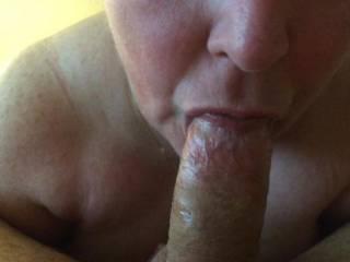 My wife sucking my cock