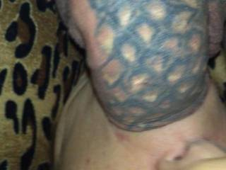 my hot wife with my half hard tattooed dick in her mouth what do you think