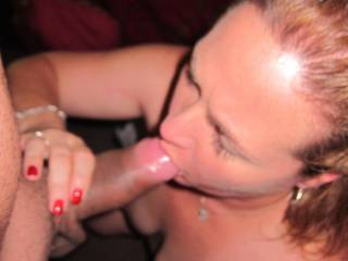 Our friend could not wait any longer to have my dick in her mouth