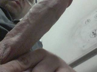 My cock at work!