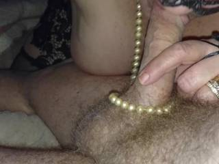 Sucking me on Valentines Day she loves to suck my cock