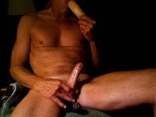 Preparing and warming my mouth for a pulsating cock. Of course if any ladies wish to join by offering a nipple or clit at the same time all the better !!!