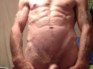 Took this photo of my bf before I started sucking his cock, any horny ladies want to join us for some fun?