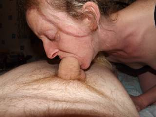 Getting my daily blowjob