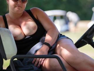Another from our golf outing, should impose nude on the golf cart next time?