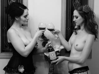 The wife, her girlfriend and a bottle of Chateau la Zoig