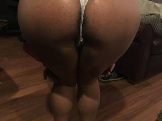 Bent over right before getting fucked