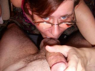 I love taking his balls into my mouth and licking all the way up his cock ...hmmmm