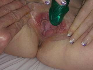 feels so good on my clit i want a tongue or cock on my pussy