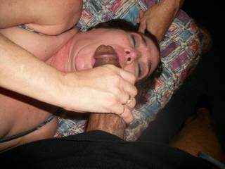 55yo Milf Sucking the Hot Cum Out of My Huge Black Cock