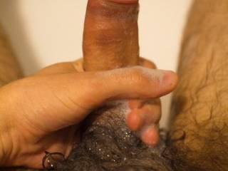 taking a bath my cock